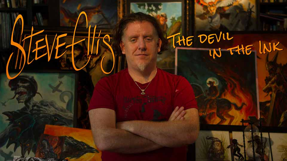 Open Lightbox to view 'Steve Ellis: The Devil in the Ink' short documentary